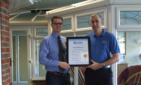 R AND M WINDOWS JOINS THE BLUESKY CERTIFIED INSTALLER SCHEME