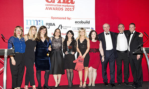 HIGH FIVE FOR MRA MARKETING AT CONSTRUCTION MARKETING AWARDS