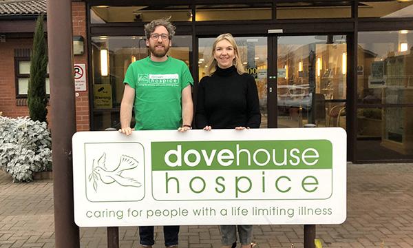 HUMBER DOOR RAISES £500 FOR DOVE HOUSE HOSPICE