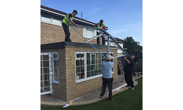 5 LEKA ROOFS FITTED ON 5 CONSERVATORIES IN 5 CONSECUTIVE DAYS