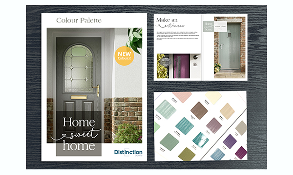 DISTINCTION DOORS' MARKETING PACKAGE AND SKIN BOOK REFLECTS ITS STATUS AS MARKET LEADER