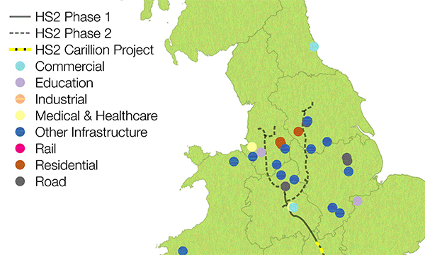 CARILLION PROJECTS WORTH A TOTAL OF £5.7 BILLION