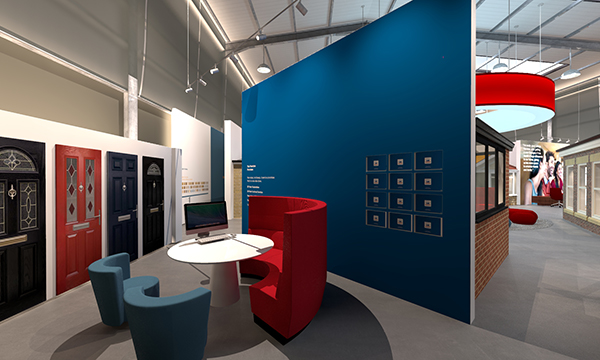 CUTTING EDGE SHOWROOM FOR CONSERVATORY OUTLET GROUP