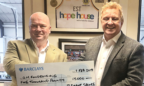 £5,000 FOR 5,000 HOURS TO GM FUNDRAISING