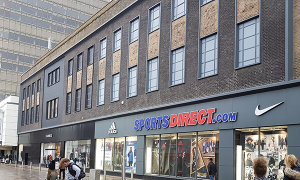 ENTEC DESIGN USES EXLABESA KSF NON THERMAL DOOR SYSTEM ON REFURBISHMENT OF A FLAGSHIP STORE IN MIDDLESBROUGH