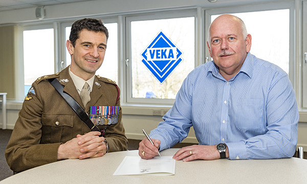 VEKA 'JOINS FORCES' WITH THE ARMY RESERVE; WINNING MOD AWARD