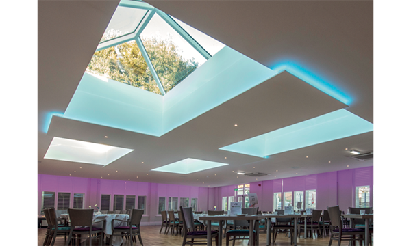 CHEWTON BESPOKE HOMES INSTALL FOUR IMPRESSIVE KORNICHE 3.6M X 2.1M ROOF LANTERNS TO THE SOLENT SUITE, MARSHAM COURT HOTEL, BOURNEMOUTH.