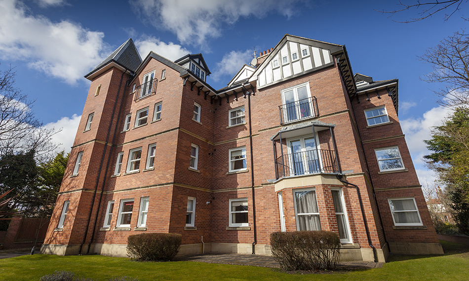 COUNTRYWIDE UPVC INSTALLS 88 PROFILE 22 VERTICAL SLIDING WINDOWS IN A PRIVATE APARTMENT BUILDING IN MERSEYSIDE