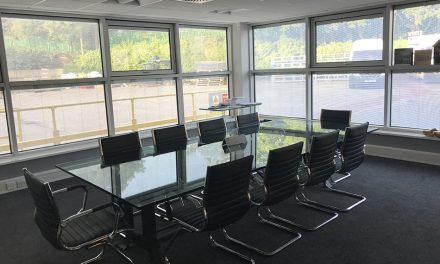 NEW INTEGRAL BLINDS FOR MORLEY GLASS & GLAZING'S OWN OFFICES