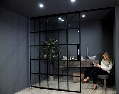 Sliding Version Of Crittall Innervision Steel Screens
