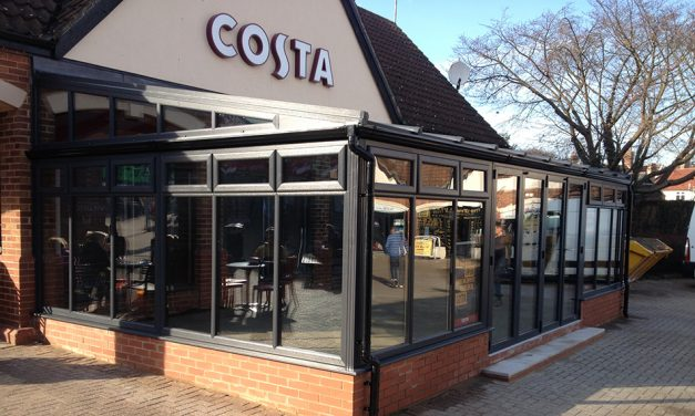 Amber Home Improvements Blend with Costa Coffee