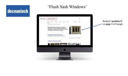 DECEUNINCK TOPS GOOGLE SEARCH FOR FLUSH SASH AND HERITAGE WINDOWS