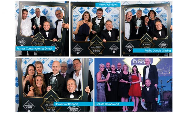 GLAZERITE INSTALLERS RECOGNISED AT ANNUAL  INDEPENDENT NETWORK AWARDS