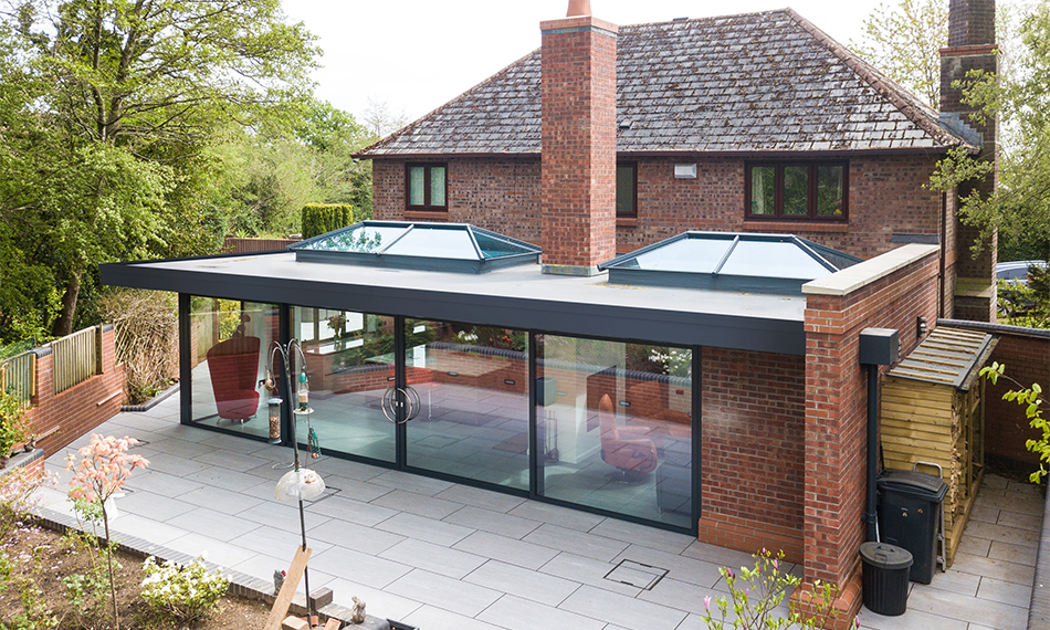 Conservatory Outlet Unveil New Flat Roof Extension Glass News