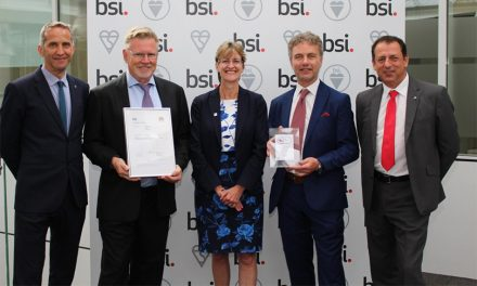 MIGHTON PRESENTED WITH WORLD FIRST BSI INTERNET SECURITY CERTIFICATE FOR AVIA SECURE SMART LOCK
