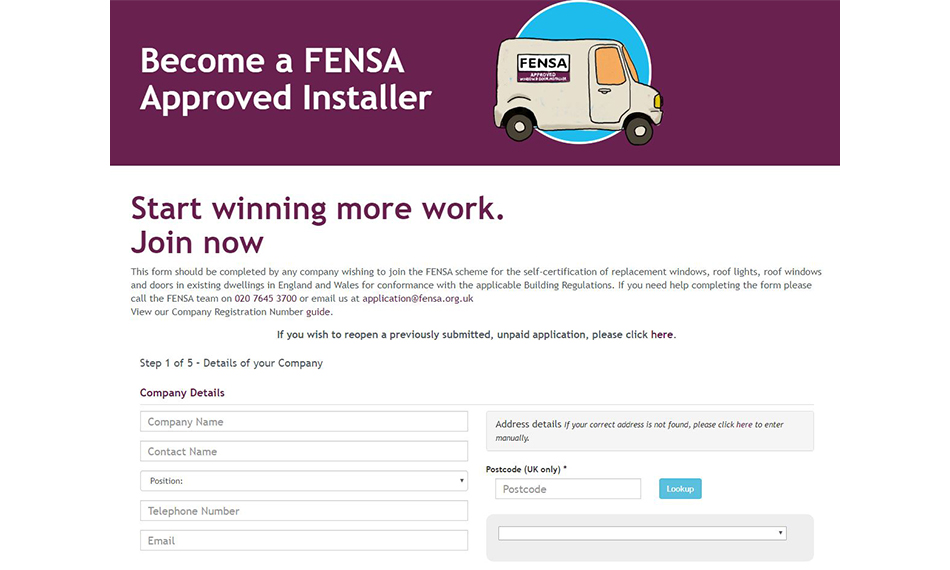 FENSA MAKES IT EASIER THAN EVER FOR INSTALLERS TO JOIN