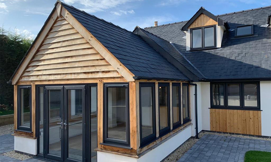 NEW BUILD PROPERTY IN HEREFORDSHIRE BENEFITS FROM OPTIMA WINDOWS AND DOORS FROM PROFILE 22