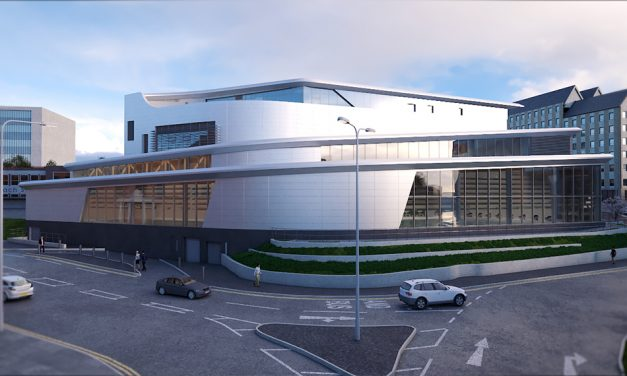 THE COMPLETE PORTFOLIO OF KAWNEER PRODUCTS WILL BE USED AT ST SIDWELL'S POINT IN DEVON.