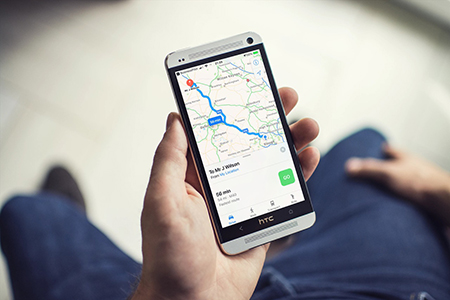 route plan mobile mockup