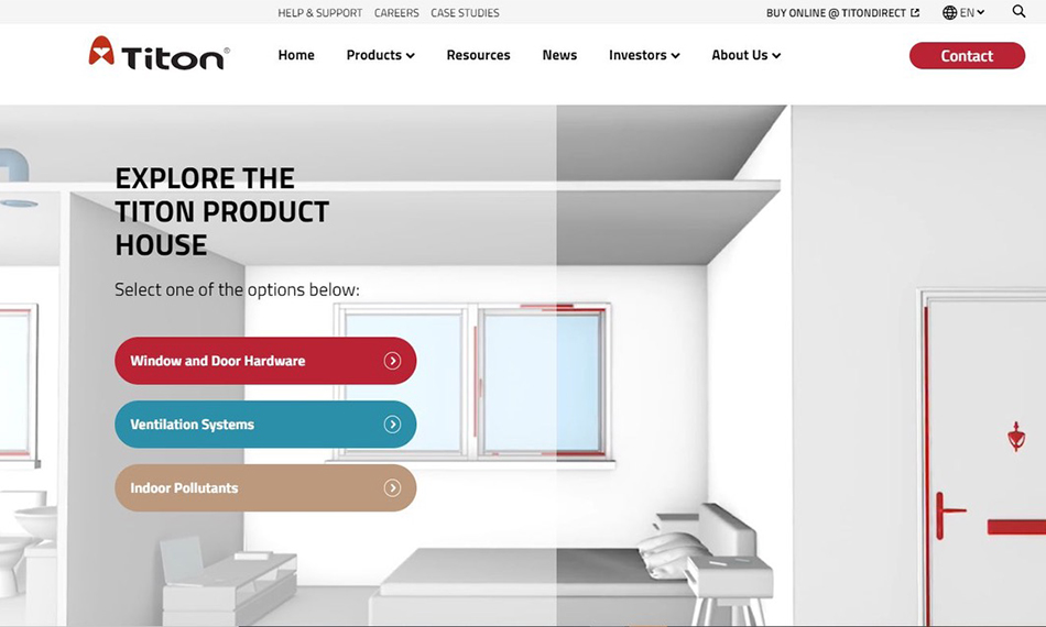 TITON LAUNCHES THE 'TITON PRODUCT HOUSE'  – A NEW INTERACTIVE ONLINE EXPERIENCE