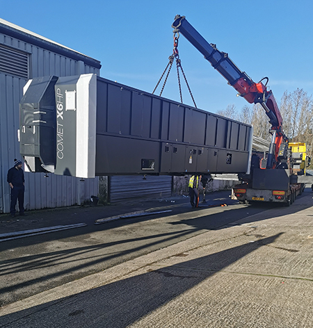 PR234 The first Comet X6HP in the UK being delivered at HH Architectural Systems