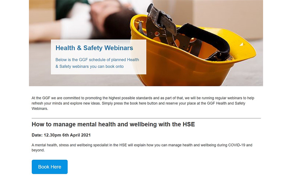 GGF LAUNCHES NEW HEALTH AND SAFETY WEBINARS