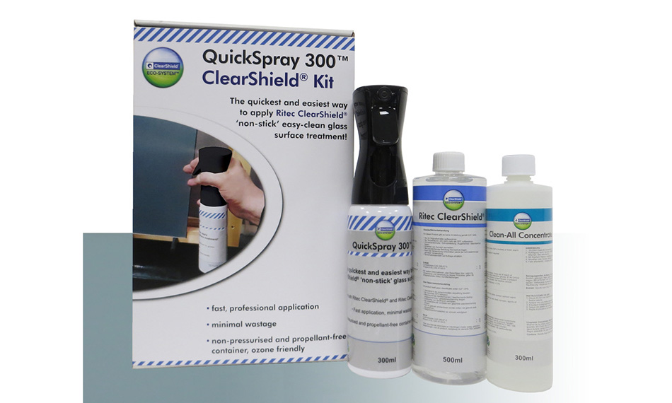 RITEC LAUNCHES FASTEST EVER WAY TO APPLY CLEARSHIELD® 'NON-STICK' EASY-CLEAN GLASS PROTECTION