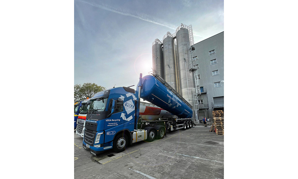 VEKA GROUP COMMITMENT TO RECYCLED PVC-U MARKED BY TANKER DELIVERIES